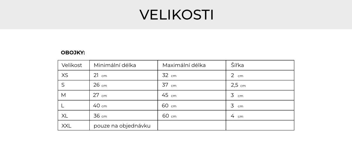 Velikost obojků_Rebruns